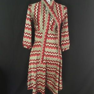 Zara Basic Chevron Dress